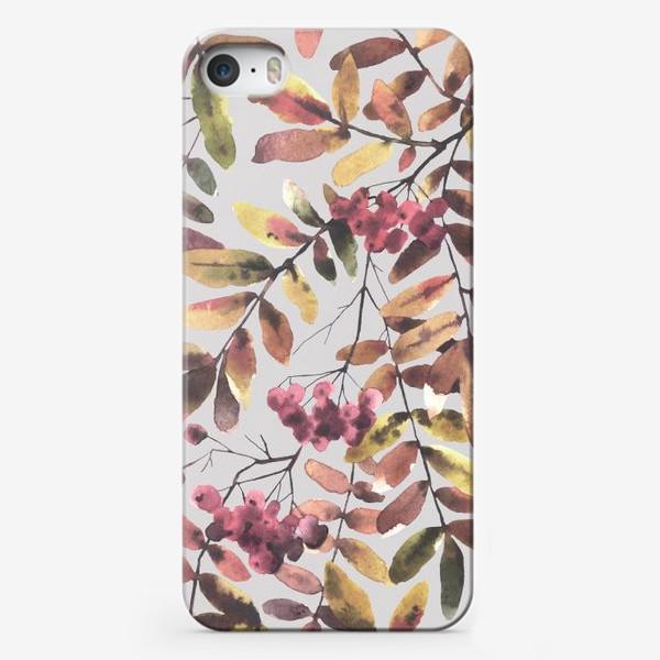 Чехол iPhone «Рябина. Паттерн»