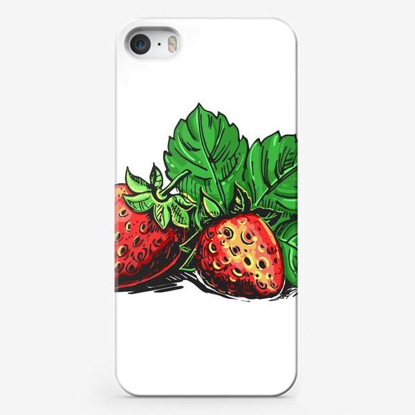 Чехол iPhone «клубника. ягоды клубники»