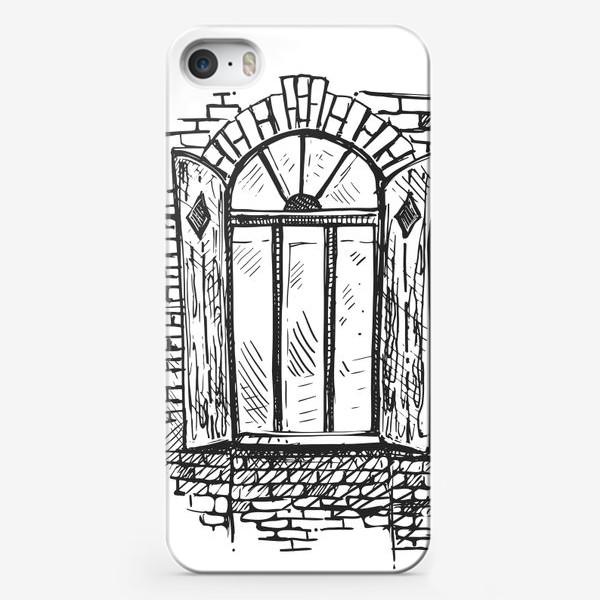 Чехол iPhone «старинное окно с кирпичной стеной»