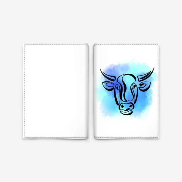 Обложка для паспорта «Бык»