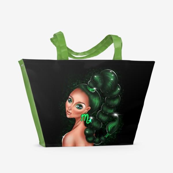 Пляжная сумка «Скорпион. Знаки зодиака. Коварная девушка»