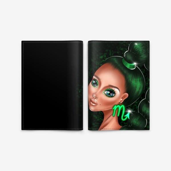 Обложка для паспорта «Скорпион. Знаки зодиака. Коварная девушка»