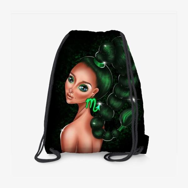 Рюкзак «Скорпион. Знаки зодиака. Коварная девушка»