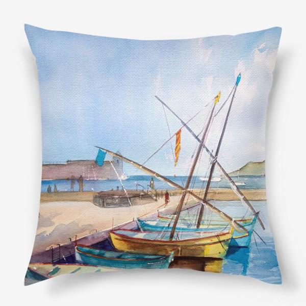 Подушка «Яхты Франция»