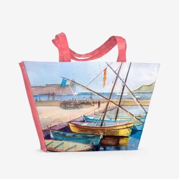 Пляжная сумка «Яхты Франция»