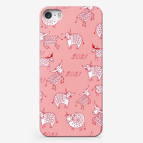 Чехол iPhone «Орнаментальные быки»