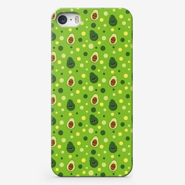 Чехол iPhone «милые авокадо. яркий сочный паттерн»