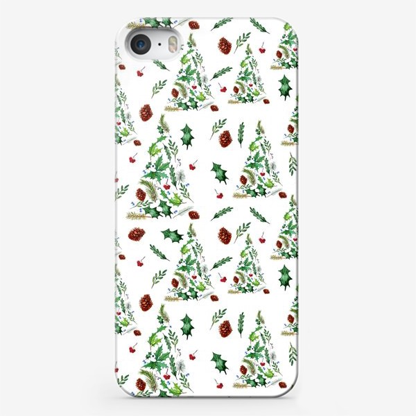 Чехол iPhone «елоски и шишки»