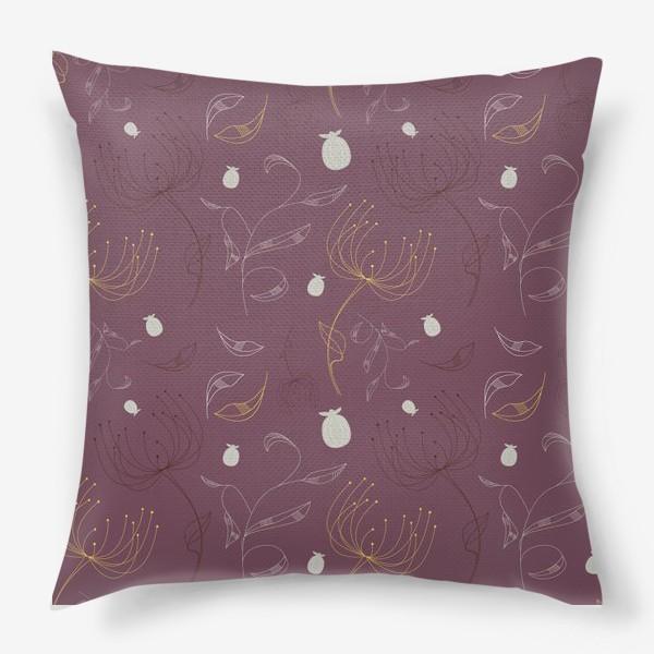 Подушка «Цветочный векторный паттерн»