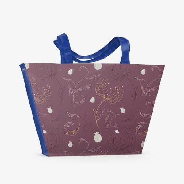 Пляжная сумка «Цветочный векторный паттерн»