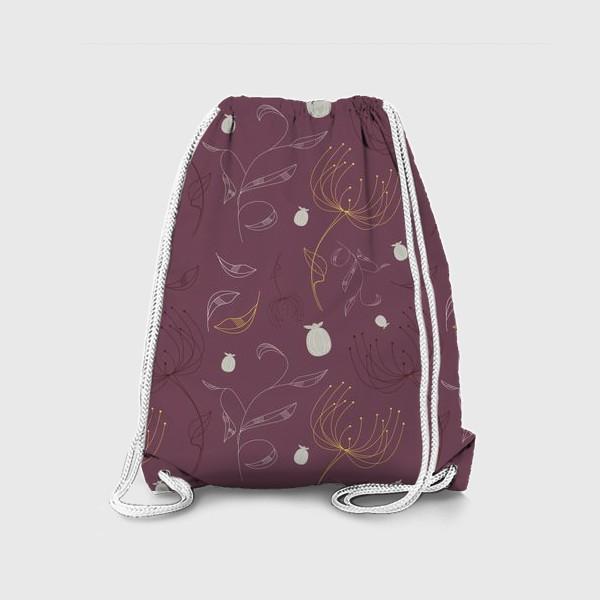 Рюкзак «Цветочный векторный паттерн»