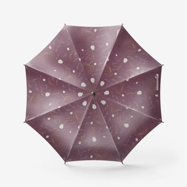Зонт «Цветочный векторный паттерн»