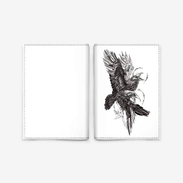 Обложка для паспорта «Вороны»