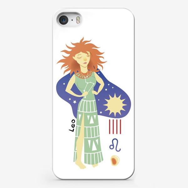 Чехол iPhone «Знак Зодиака Лев (Leo)»