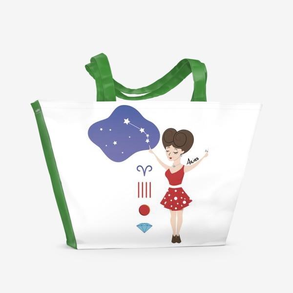 Пляжная сумка «Знак Зодиака Овен (Aries)»