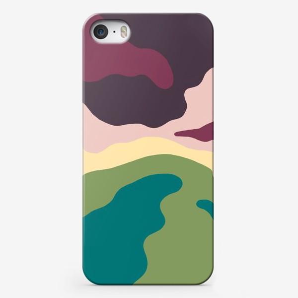 Чехол iPhone «Осенний пейзаж. Холмы. Абстракция.»