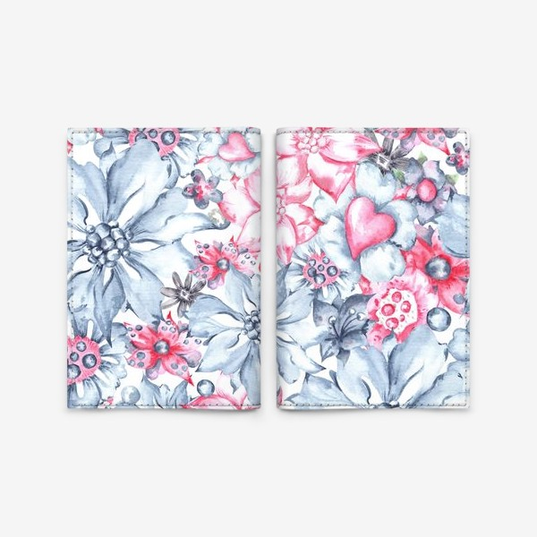 Обложка для паспорта «Жемчужные цветы»