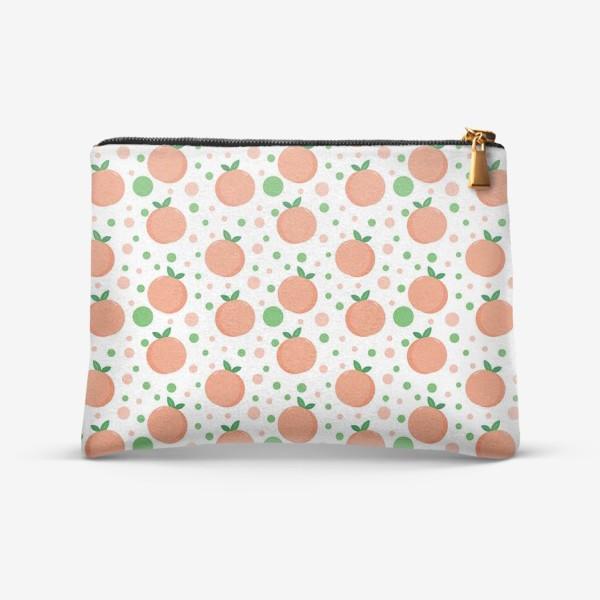 Косметичка «персики. нежный летний фруктовый паттерн»
