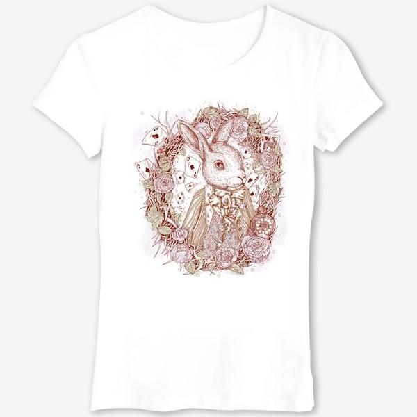 Футболка «Белый кролик из Алисы в стране чудес»