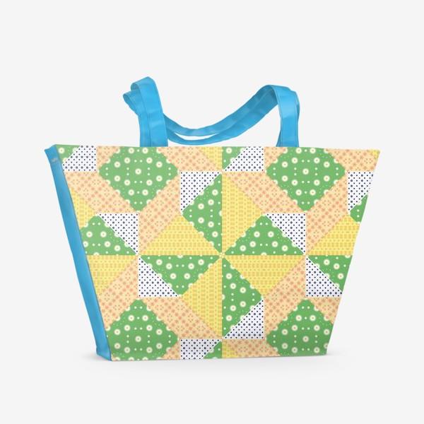 Пляжная сумка «Лоскутный фон, пэчворк»