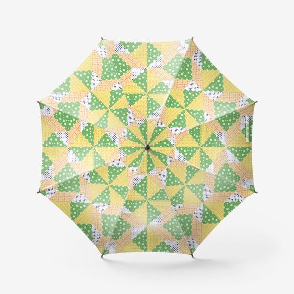 Зонт «Лоскутный фон, пэчворк»
