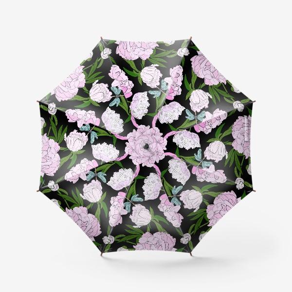 Зонт «пион и стрекоза»