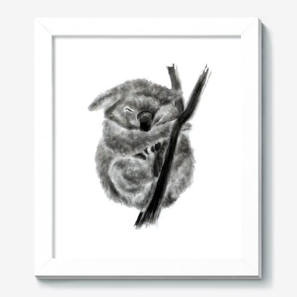 Картина «коала спит на ветке»
