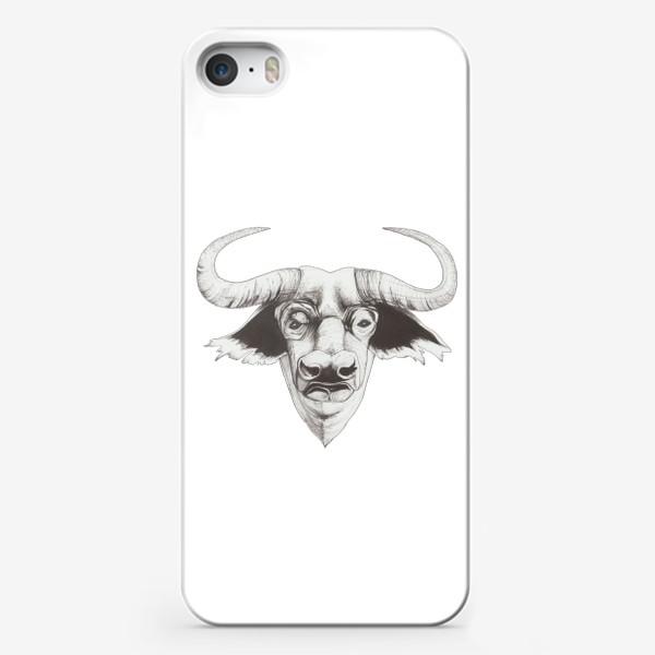 Чехол iPhone «Бык смотрит»