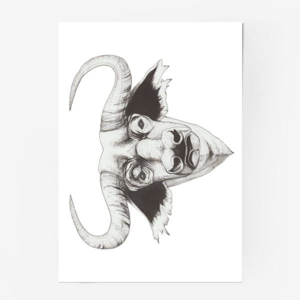 Постер «Бык смотрит»