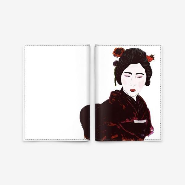 """Обложка для паспорта «""""Гейша к красных тоннах""""»"""