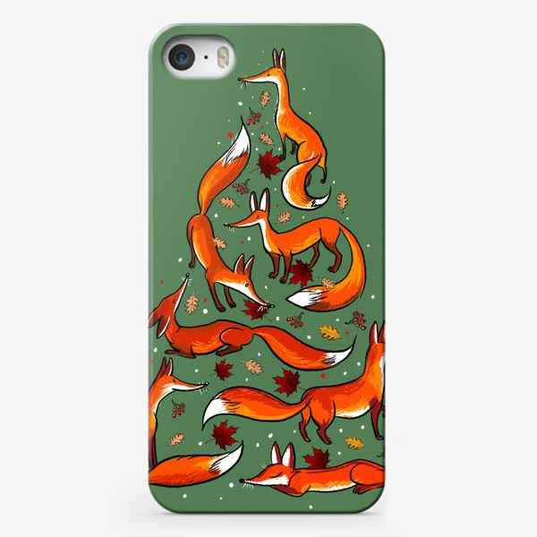 Чехол iPhone «Лисички»
