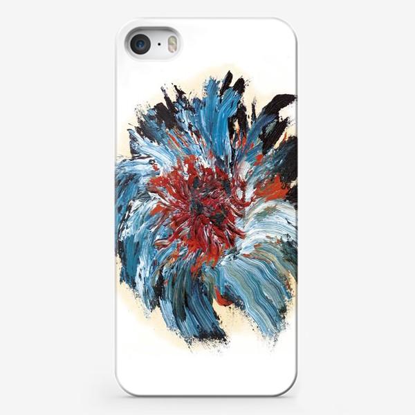 Чехол iPhone «Синий цветок»
