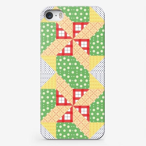 Чехол iPhone «Бесшовный лоскутный фон, пэчворк»