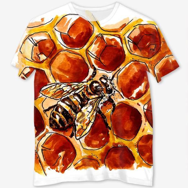 Футболка с полной запечаткой «Honeybee»
