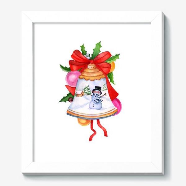 Картина «Christmas toy, Christmas decoration, bell.»