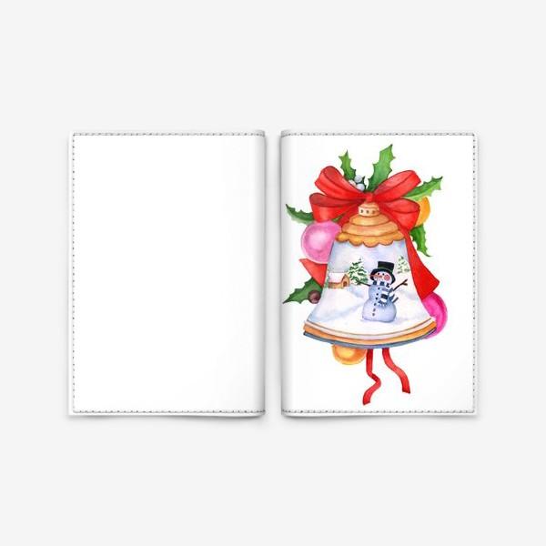 Обложка для паспорта «Christmas toy, Christmas decoration, bell.»