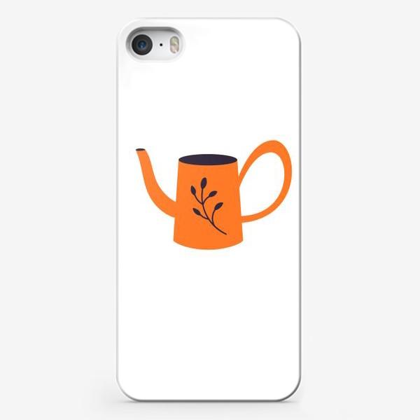 Чехол iPhone «Симпатичная оранжевая лейка. Садоводство, сад, лето»