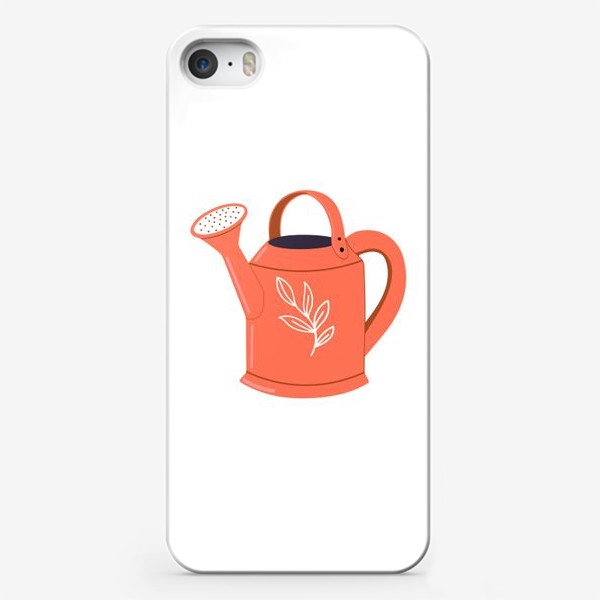 Чехол iPhone «Симпатичная садовая оранжевая лейка. Садоводство, сад, лето»