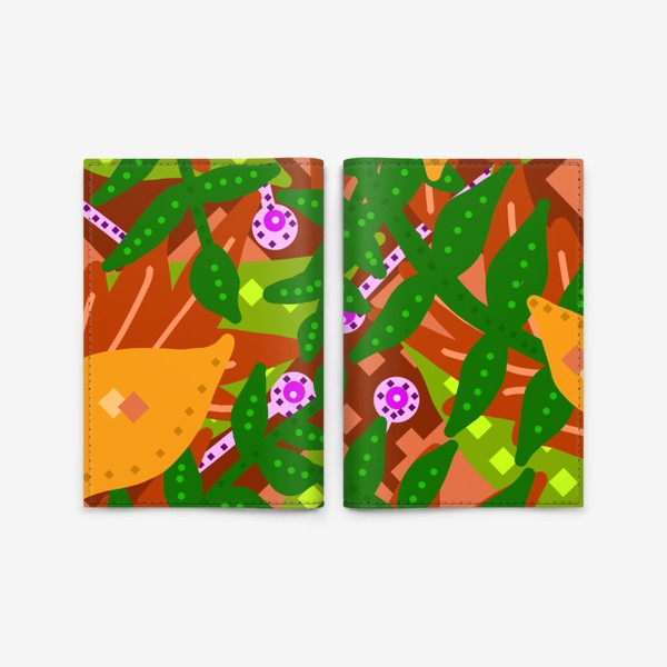 Обложка для паспорта «Тропики»