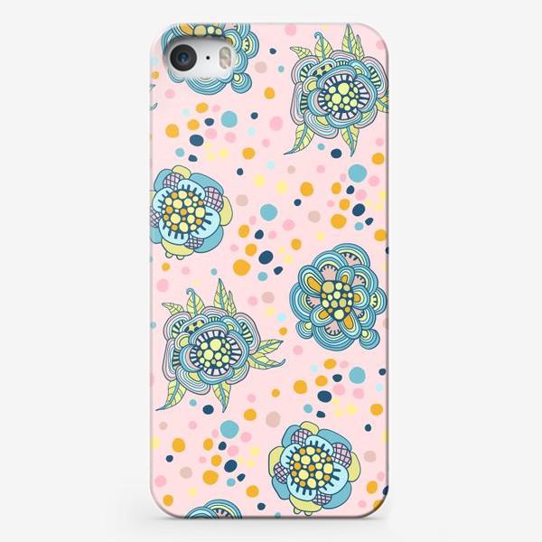 Чехол iPhone «Декоративные цветы»