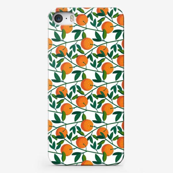 Чехол iPhone «апельсиновый узор»