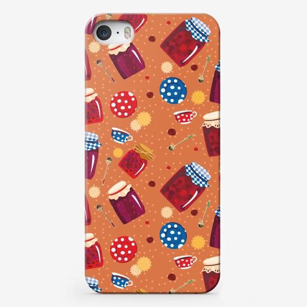 Чехол iPhone «Варенье и печенье узор»