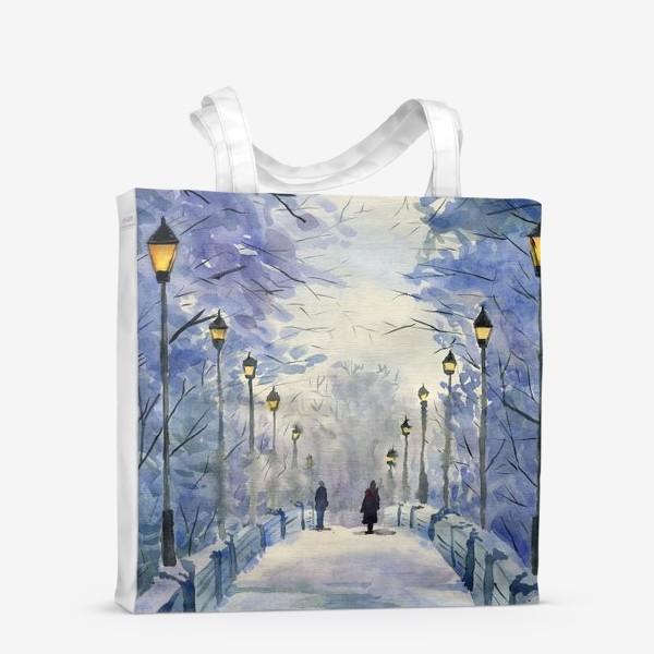 Сумка-шоппер «зимний мост»