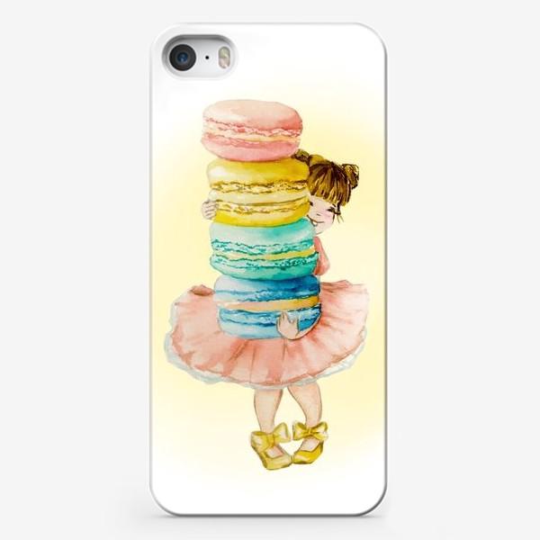Чехол iPhone «Девочка с макарун»