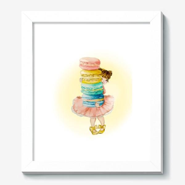 Картина «Девочка с макарун»