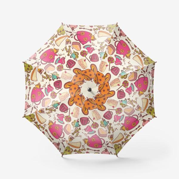 Зонт «Безумное чаепитие»