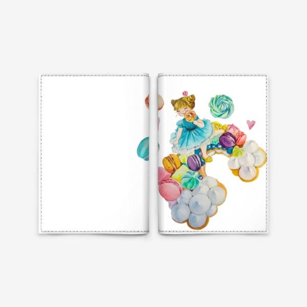 Обложка для паспорта «Девочка на сладкой радуге»