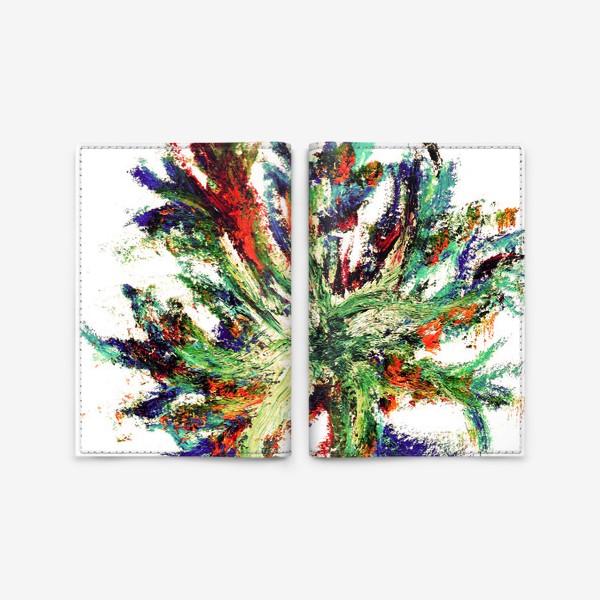 Обложка для паспорта «букет цветов абстракция»