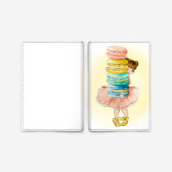 Обложка для паспорта «Девочка с макарун»