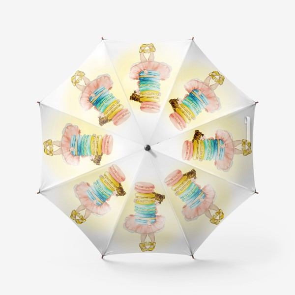 Зонт «Девочка с макарун»